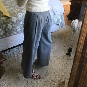 J. Crew wool and polyester lined cropped pant
